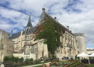Angouleme chateaux at the centre of the ramparts & old town