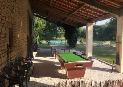 Outdoor, pool, table tennis & darts area